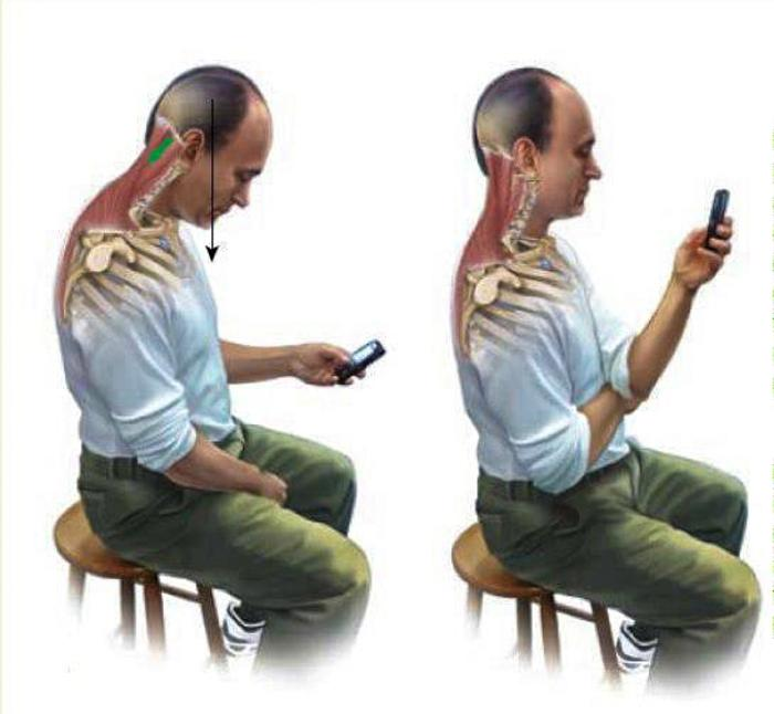 2 cell phone messing up your spine