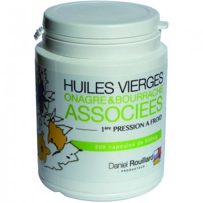 200 Capsules Huiles d'Onagre & Bourrache. 100% Naturelle