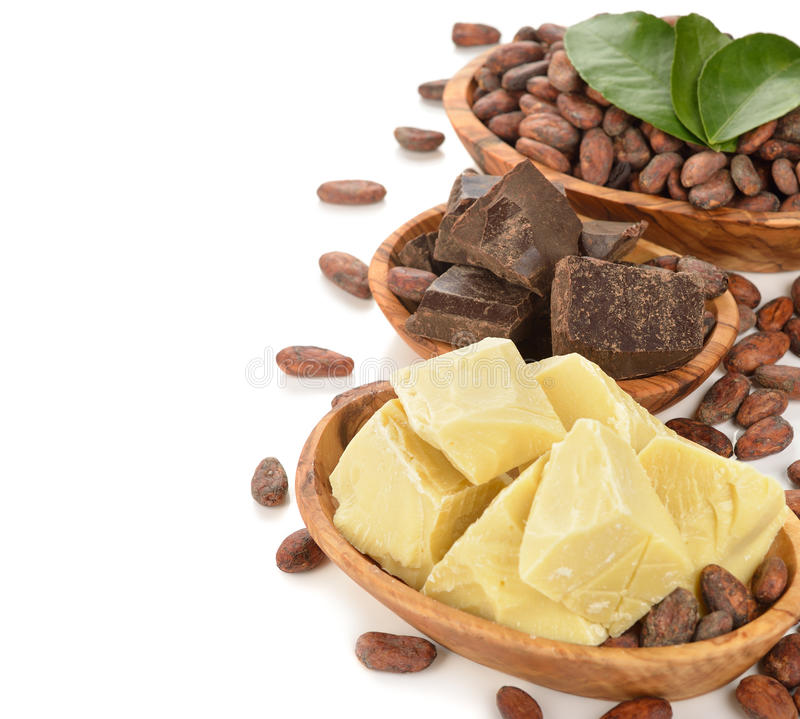 Cocoa beans cocoa butter cocoa mass white background 50586726