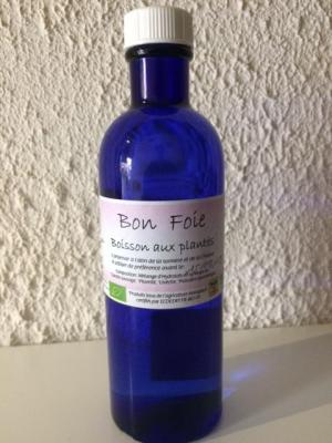 BOISSON AUX PLANTES BIO pour le FOIE.  (Hydrolats Carotte sauvage, Livèche, Pissenlit, Pulicaire dysentérique)