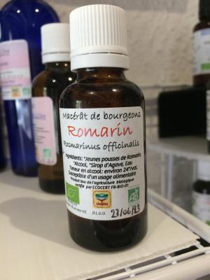 Macérât ROMARIN  - ANTIOXYDANT - DRAINEUR 30ML