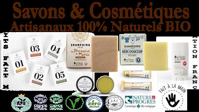 Savons & Cosmétiques Artisanaux 100% Naturels BIO