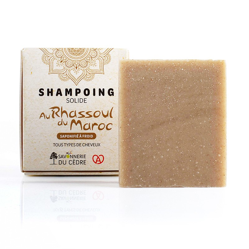 Shampooing solide naturel rhassoul